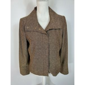 Kenneth Cole Long Sleeve Brown Jacket Size 10